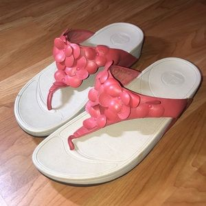 FitFlop wedge floral sandals women